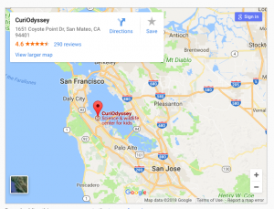 Google map to CuriOdyssey