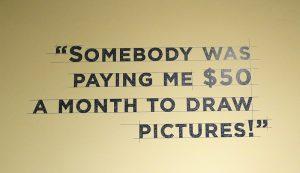The Walt Disney Family Museum display