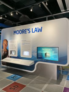 museum display about Moore's Law