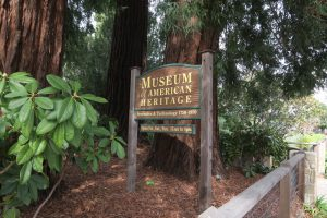 sign outside Museum of American Heritage in Palo Alto