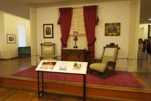 The Walt Disney Family Museum display of the furniture in Walt's fire station apartment in Disneyland