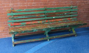 The Walt Disney Family Museum park bench where Walt got the idea for Disneyland