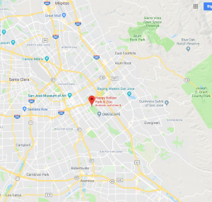 Google map of area around Happy Hollow in San Jose