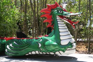 Danny the Dragon ride at Happy Hollow in San Jose