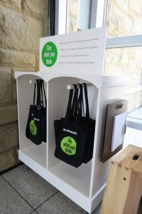 kids' activity bags at San Jose Museum of Art