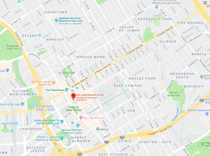 Google map of downtown San Jose