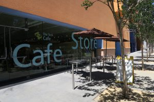 outside cafe & store at The Tech Museum in San Jose