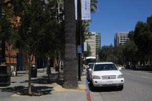 on-street parking in front of The Tech Museum in San Jose