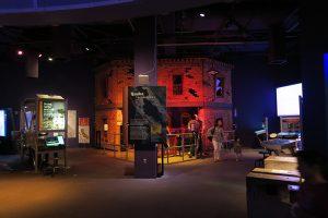 earthquake simulator inside The Tech Museum in San Jose