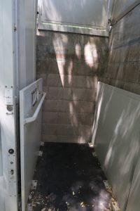 Inside a Gilroy Gardens wheelchair elevator
