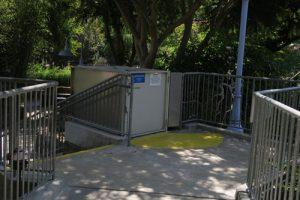 Gilroy Gardens wheelchair elevator