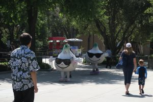 Gil and Roy, mascots at Gilroy Gardens