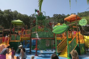 Gilroy Gardens water oasis play structure