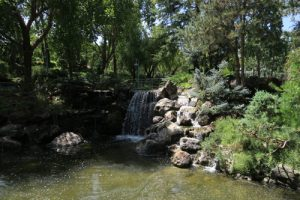 waterfall at Gilroy Gardens