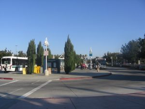 public transit station in the Great Mall parking lot in Milpitas
