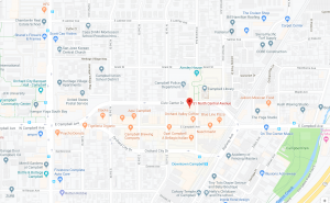 Google map of Campbell Historical Museum area