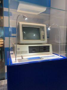 antique IBM computer in Intel Museum