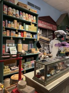 """pretend """"general store"""" inside the Campbell Historical Museum"""