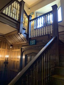 oak stairs in Ainsley House in Campbell