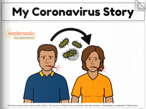 cover to Easter Seals social story called My Coronavirus Story